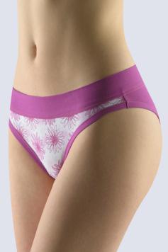 Fialové kvetované brazílske nohavičky