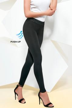 Čierne push-up legíny Aida 200DEN